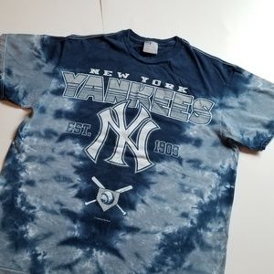 MLB | New York Yankees Blue Tie Dye Baseball Merch